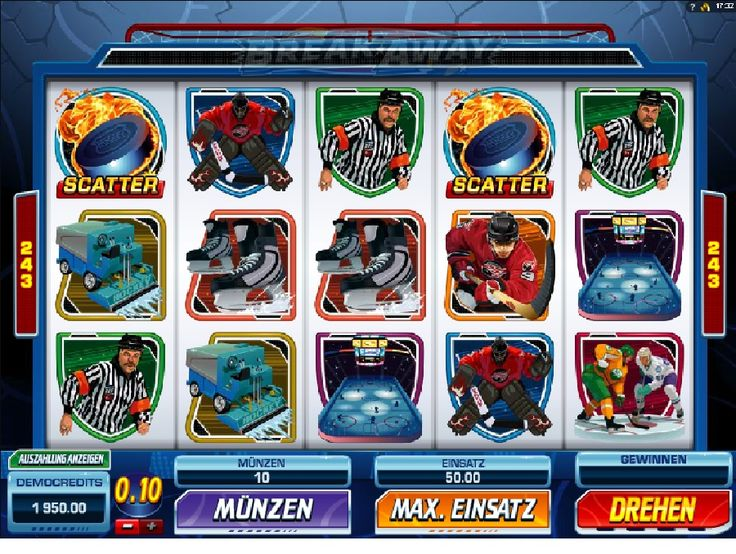Erstaunlich Hockey-Match mit undenkbaren Gewinnen! http://www.online-kasino-spielautomaten.com/spiele/slot-spiel-break-away-online #breakaway #spiele #onlinekasinospielautomaten