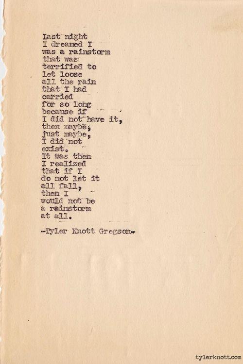 Typewriter Series #307by Tyler Knott Gregson