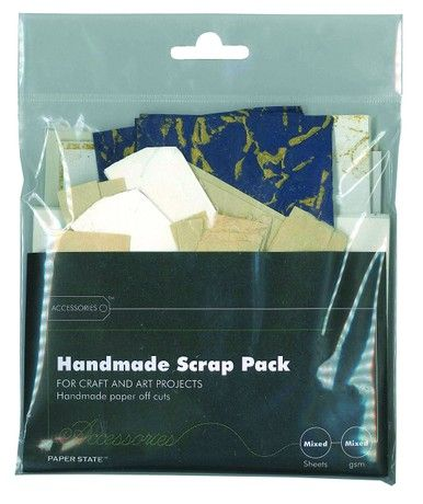 Paperstate Handmade Scrap Pack/Paper and Card for Crafting/Art Projects