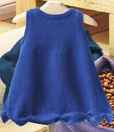 Синее Платье — Вяжем для Девочки   Дидилка
