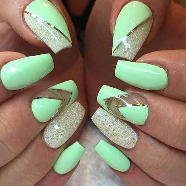 ✅✅Mint nails #fabulous #instafabulous #nails #glam #nailpolish #nailart #naildecor #ma... | Use Instagram online! Websta is the Best Instagram Web Viewer!