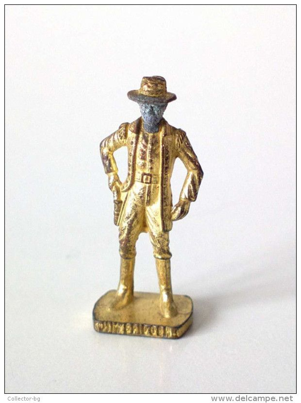 Kinder Surprise TOY JIM BRIDGER Brass Gold Figure AMERICAN WILD WEST Metal Soldier 1990 - Tin Soldiers