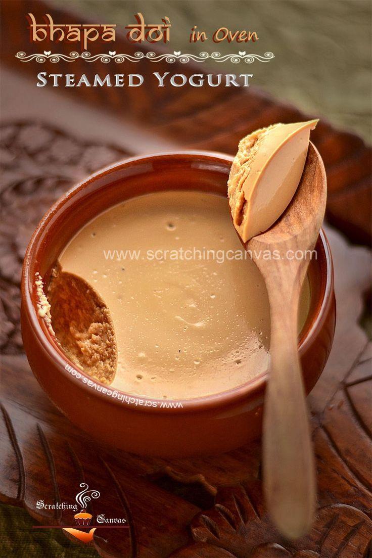 Bengali Bhapa Doi Recipe   Nolen Gur er Doi Video