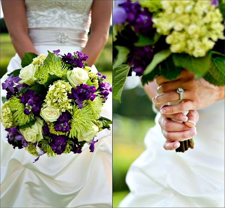 Marah Cole Designs bouquet of purple and green flowers
