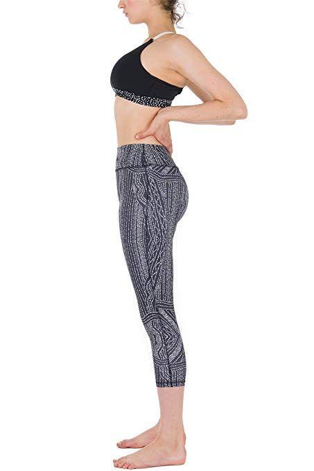 ad812d7fc3868 Amazon.com: icyzone Women Workout Clothes Athletic Leggings Capri Activewear  Hot Yoga Pants(