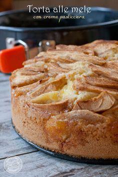 Torta di mela con crema pasticciera