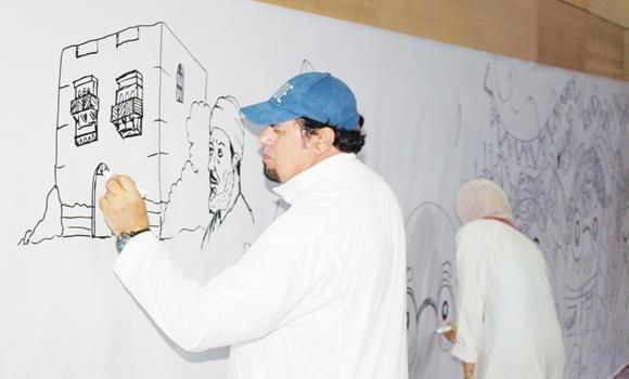 500 youths speak through largest mural of Jeddah