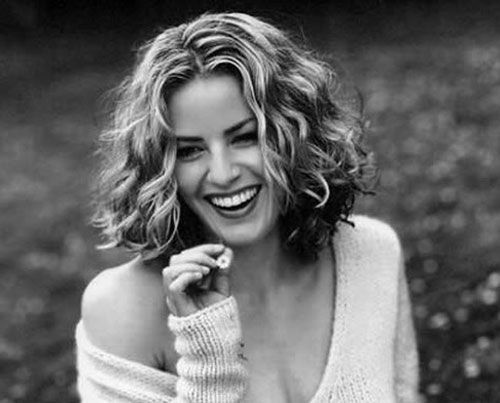 Image result for medium curly hair layered cut