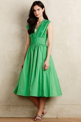 Pretty green dress - Tracy Reese Parted Emerald Dress