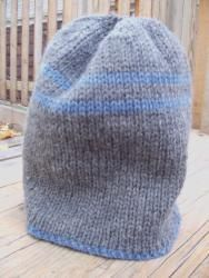 Double knit hat. Reversable in opposite colors