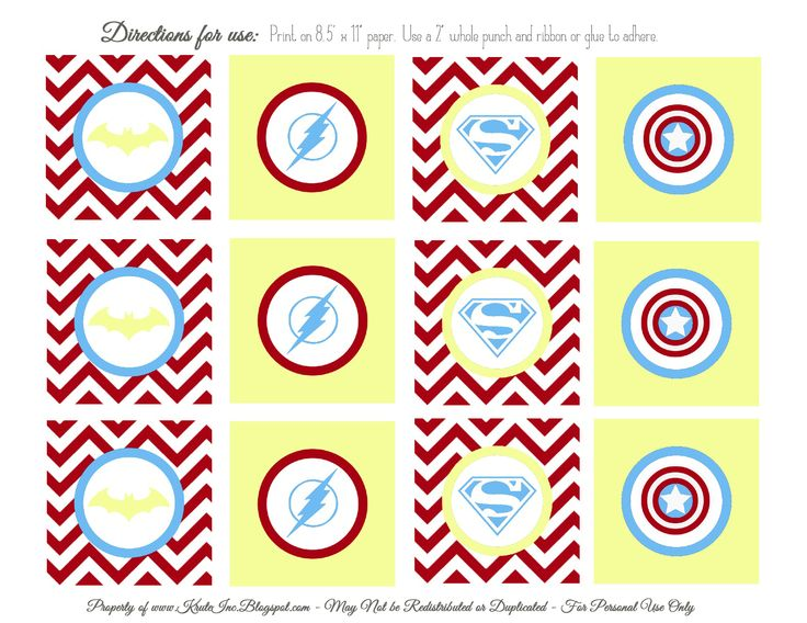 Free Printables; Joe's Superhero Cupcake Toppers!
