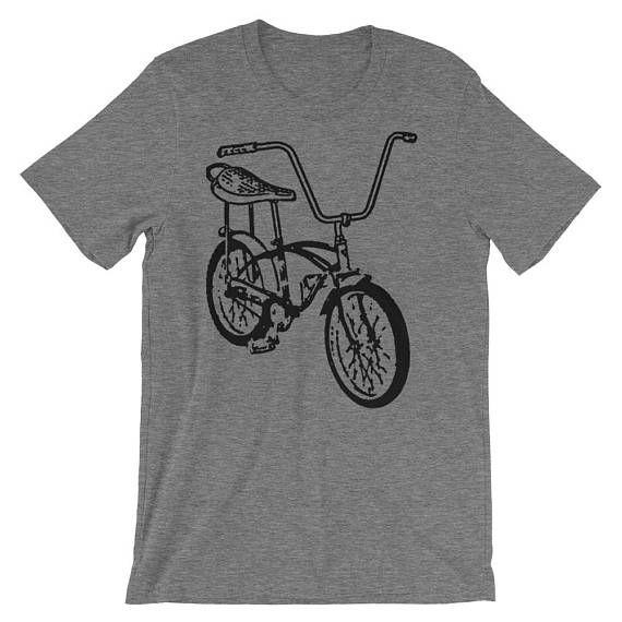Valentines Gift for Him Banana Seat Bike Tshirt Bicycle