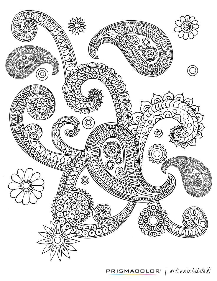 paisley coloring pages peace - photo#4