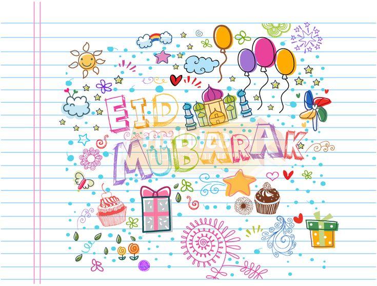 Eid Mubarak drawing