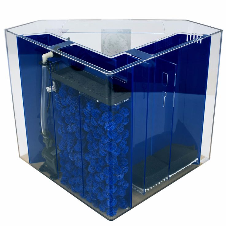 Clear-For-Life Corner UniQuarium™ is a pentagon acrylic aquarium that comes complete with built-in filtration to keep your water quality in pristine condition: mechanical and biological filtration is