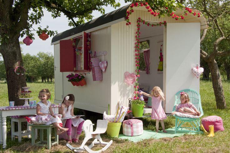 Bibelotte collection Blossom  #pipowagen #zomer #speelhuisje