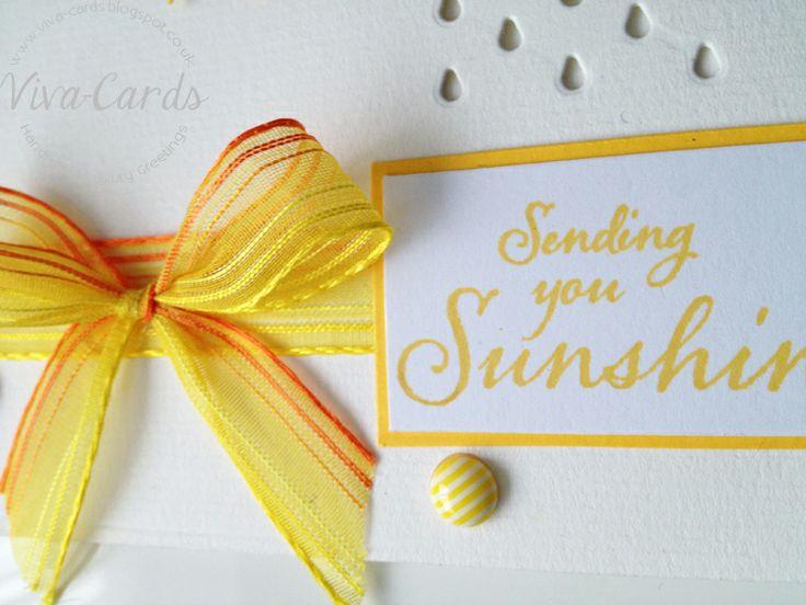 046 -  Yellow - Sunshine / Clouds Card