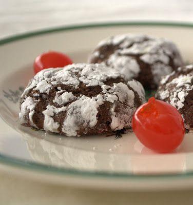 Chocolate Cherry Crinkles - 365 Days of Baking