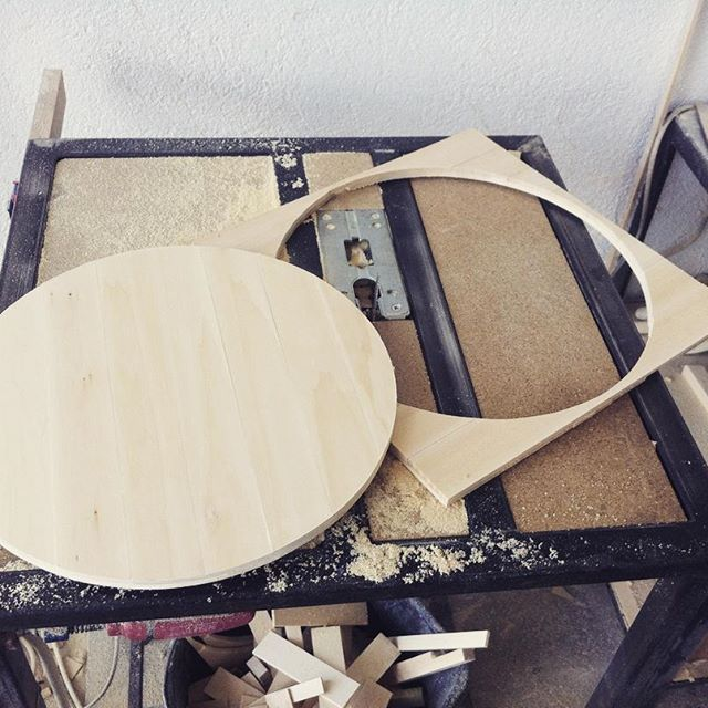 In the making #howitsmade #handmade #workshop #wallclock #woodwork