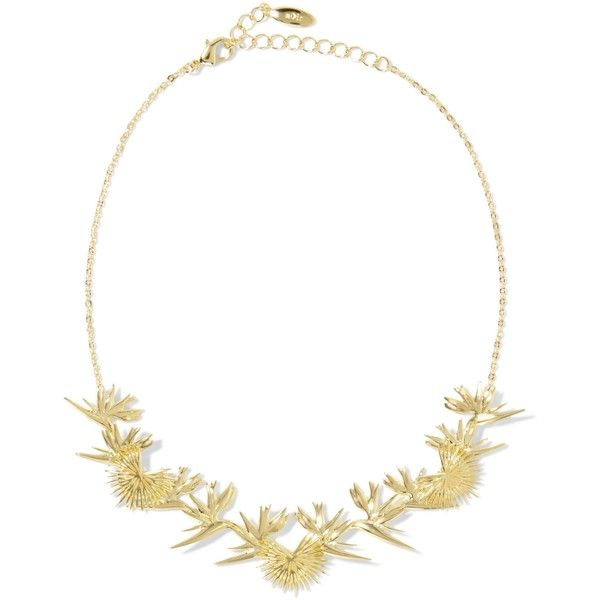 NOIR JEWELRY   Gold-tone choker ($63) ❤ liked on Polyvore featuring jewelry, necklaces, brass necklace, brass jewelry, gold tone jewelry, choker necklaces and gold tone necklace