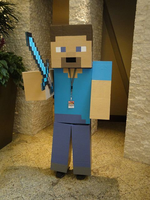 steve from minecraft costume | Steve from Minecraft with Diamond Sword | Flickr - Photo Sharing!