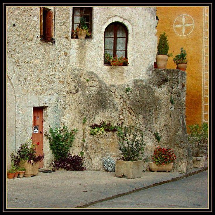 In the village of St Guilhem le Desert - France