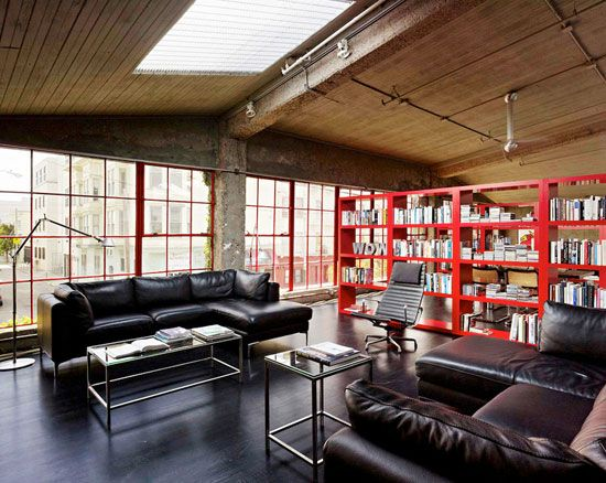warehouse converted into loft home in SF Mission district