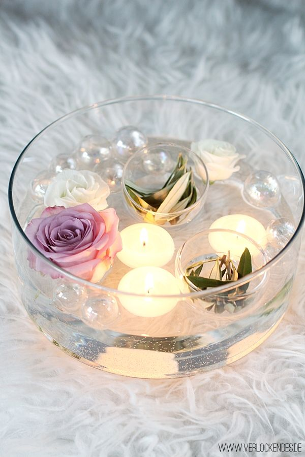 Floating candles Candles decorating living room