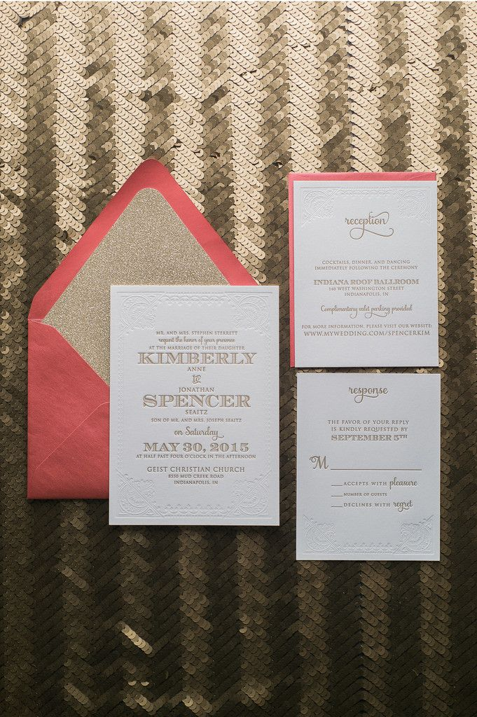 lotus flower wedding invitations%0A Fabulous Red and Gold Glitter Modern Wedding Invitations  KRISTIN Glitter  Collection by Just Invite Me