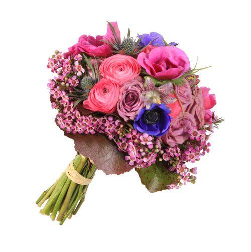 Ramo de novia campestre Cloony - anémonas, rosas, francesillas, cardos, frittilaria y flor de cera | Bourguignon Floristas #weddingbouquet #bridalbouquet #weddingflowers #novias