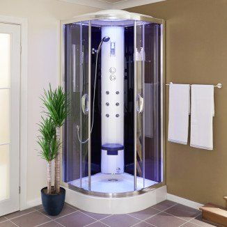 This 900 Quadrant Steam Shower Cabin is a fantastic addition to any bathroom and includes a range of special features to make your showering experience even more relaxing. This shower comes complete with an overhead shower, handset with hose and a thermos
