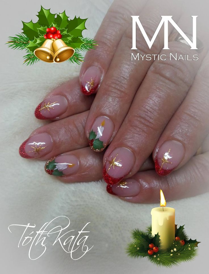 intimate Christmas nail art