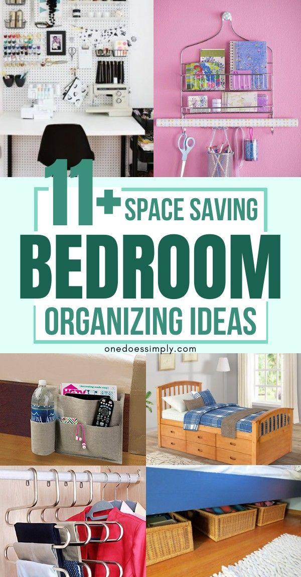 11 Genius Organization Hacks For Tiny Bedroom Small Bedroom Organization Space Saving Bedroom Small Bedroom Storage