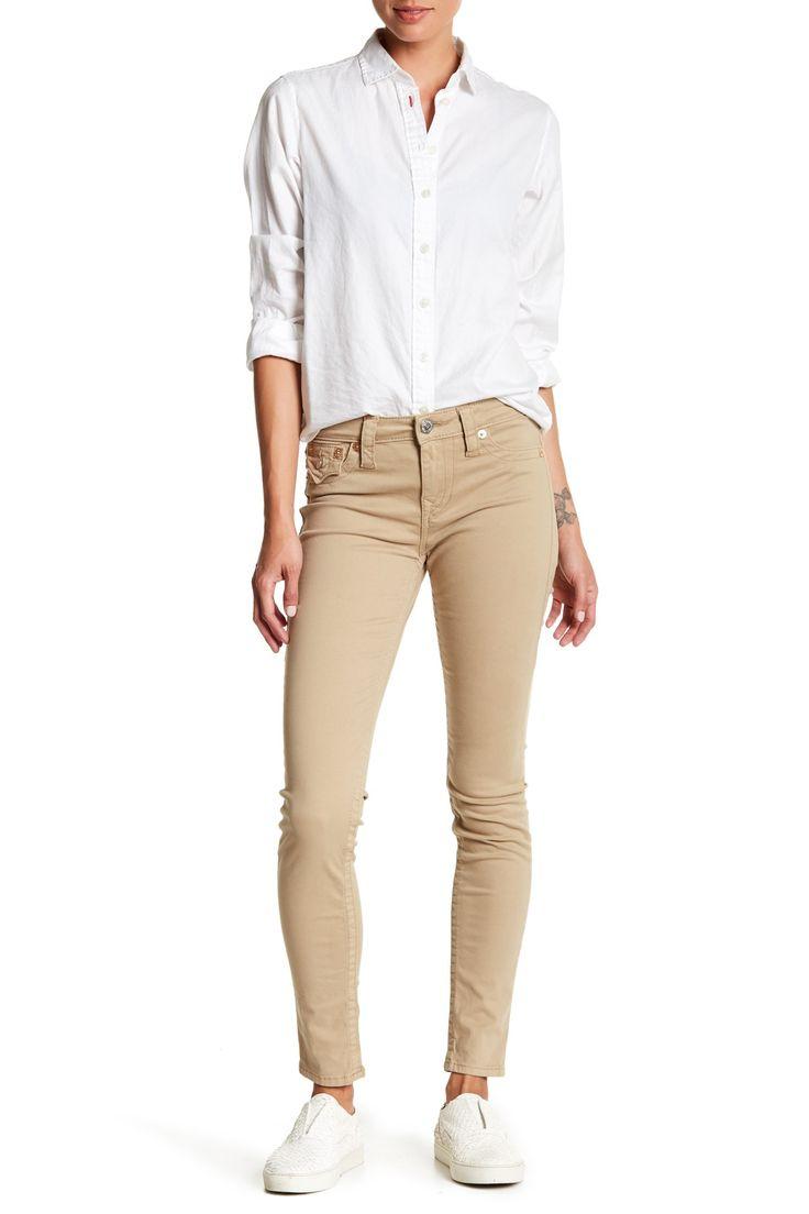Flap Super Skinny Khaki Pant