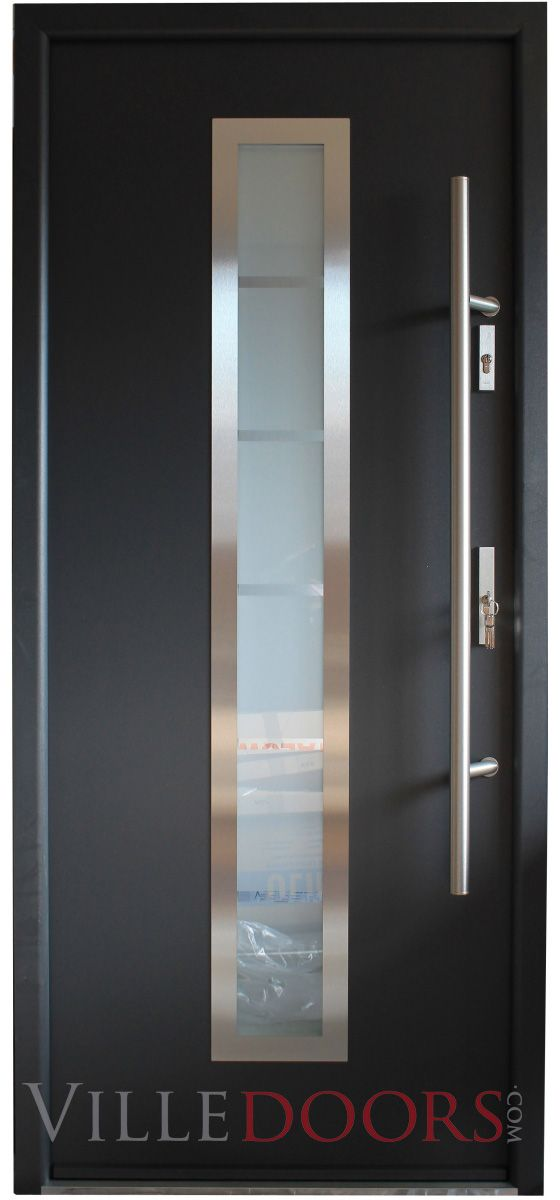 """""""Madrid"""" - Stainless Steel Entry Door with Glass"""