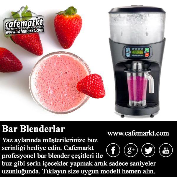 Cafemarkt profesyonel bar blender serileri ile müşterilerinize sıcak havalarda buz serinliği hediye edin. http://www.cafemarkt.com/bar-blenderlar #Cafemarkt #Blender #BarBlender #ProfesyonelBlender #HamiltonBeach #Vitamix #ByKitchen #Remta #Kitchenaid #Santos