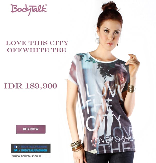 LOVE THIS CITY OFFWHITE TEE ? grab it fast ladies IDR 189,900 >> http://ow.ly/vuExC