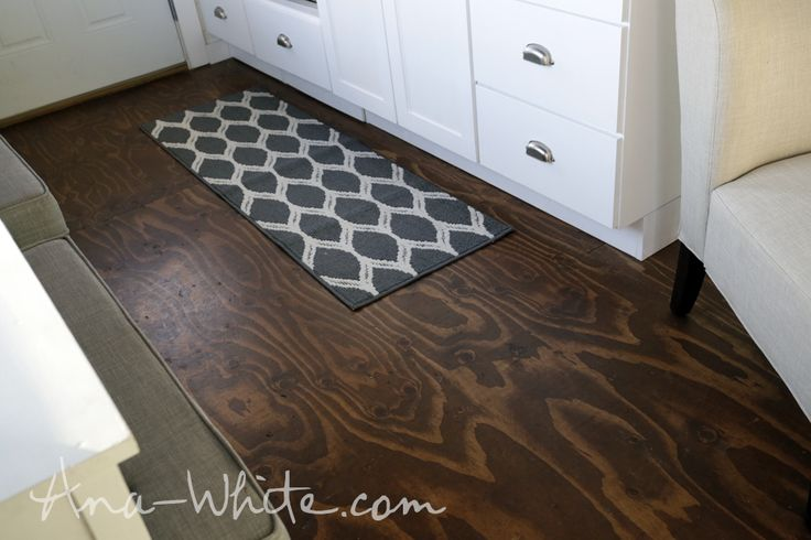 Video:How to Stain Plywood Floor Subfloor Flooring: Tiny House Build [Episode 13]   Easy DIY Projects from Ana White