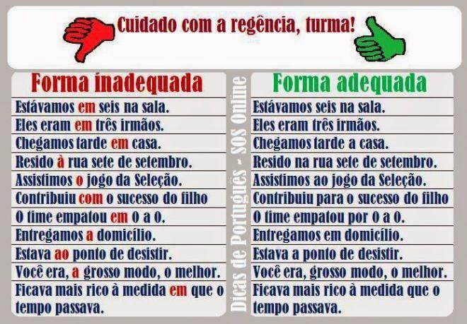 Português na tela: #dicasdasemana: rEgÊnCiA... cuidado!