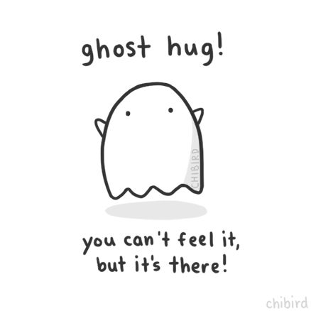 chibird: A friendly ghost hug for you! <3>u< By...