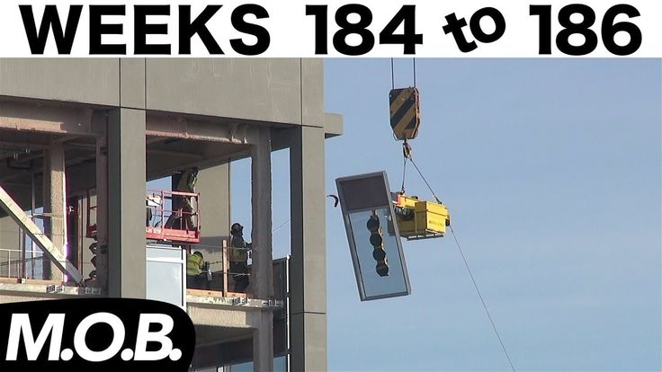 3-week construction time-lapse: Weeks 184-186 (M.O.B. edition): Curtain wall glass installation - YouTube