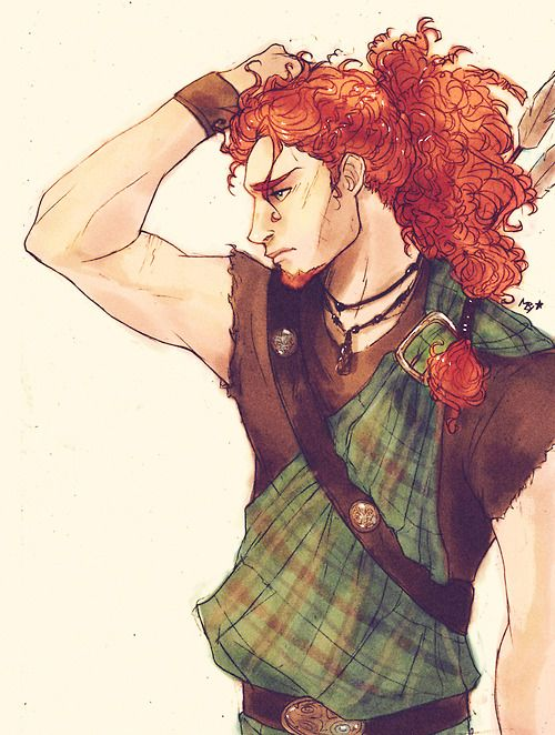 Genderbent Merida #brave source: http://mabychan.tumblr.com/post/74179786653/male-version-of-merida-the-brave