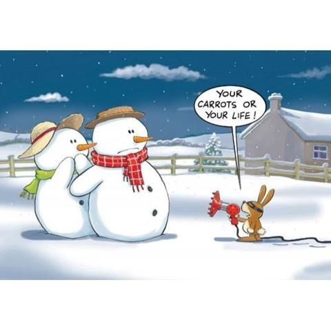Bad bunny! Funny Christmas cartoon.