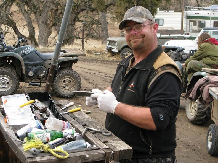 2010 Paul, guide and master butcher - Cedar Canyon Ranch, Ca