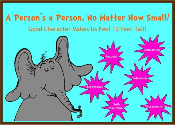 """""""A Person's A Person..."""" - Dr. Seuss Themed Character Board"""