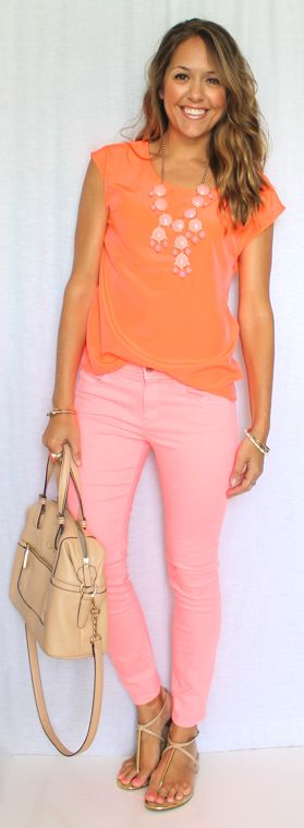 Neon Monochrome — Js Everyday Fashion. Love this color combo