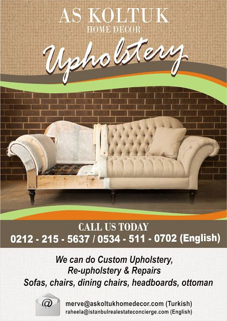 AS Lifestyle Concierge and Real Estate Services Ltd. Sti.: Looking for Upholstery in Turkey?? Call us now!!