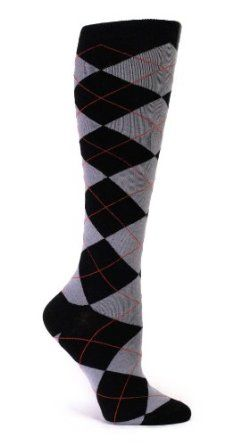 Sock It To Me Women's Knee High Grey and Black Argyle Socks Sock It To Me. $11.99