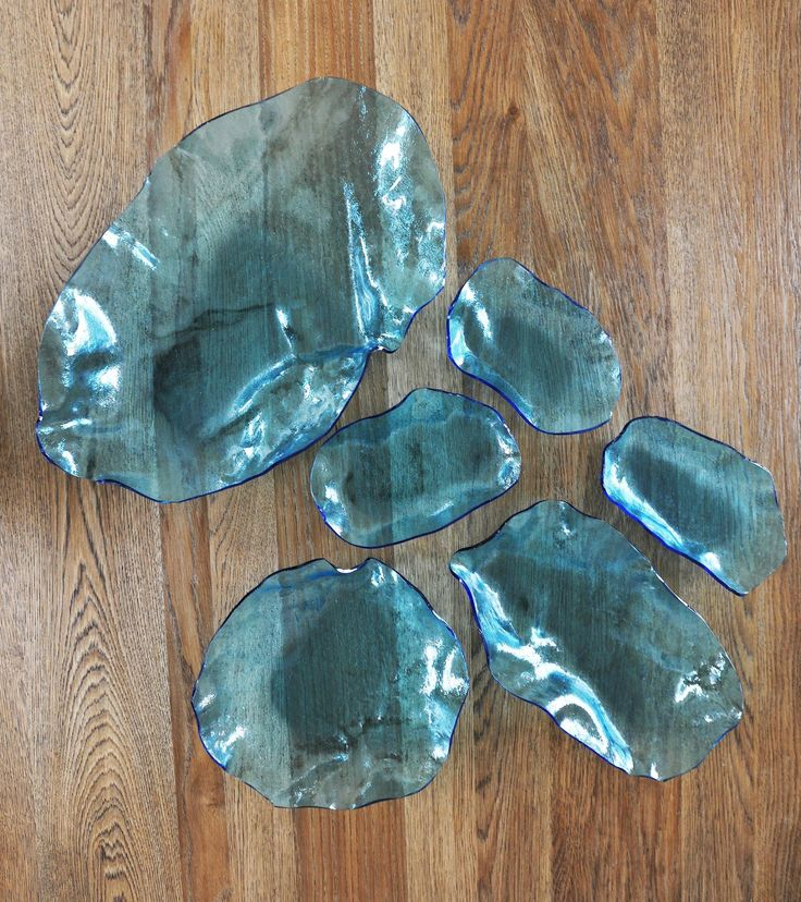Hand mase glass bowls and plates by opakstudio