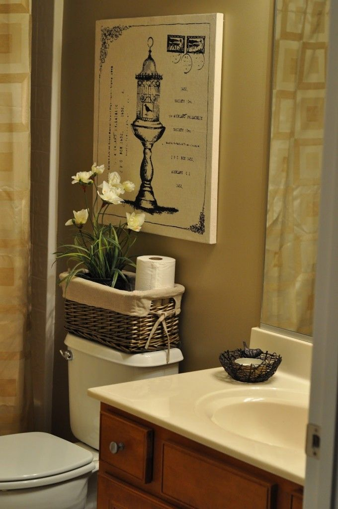 14 best bathroom makeovers on a budget images on pinterest for Cheap bathroom decorating ideas for small bathrooms